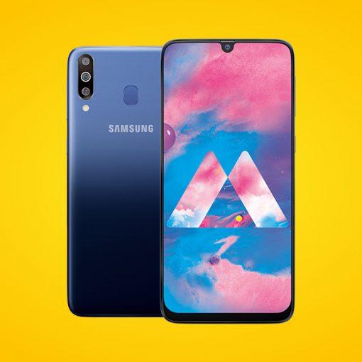 Samsung Galaxy M30 con pantalla notch y cámara triple