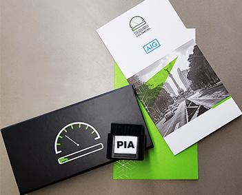 Seguro X Kilómetro PIA para conectar al auto y rastrear y registrar el auto