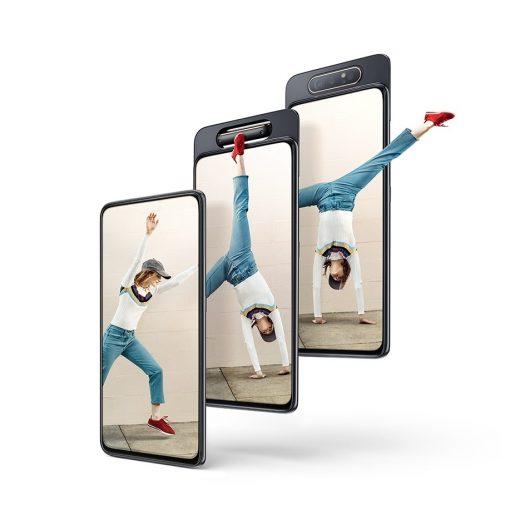 Samsung Galaxy A80 parte frontal con cámara giratoria
