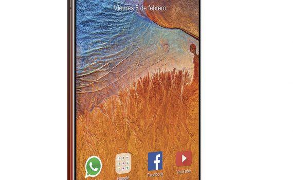 ZTE Blade V10 Rojo Gradiente en Telcel México - perspectiva perfil