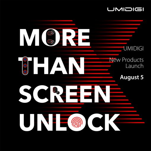 UMIDIGI X póster de promoción evento agosto 5 2019