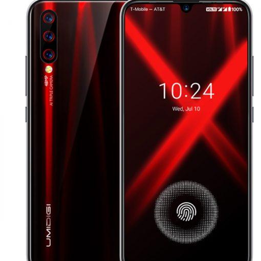 UMIDIGI X oficial color gradiente rojo y negro