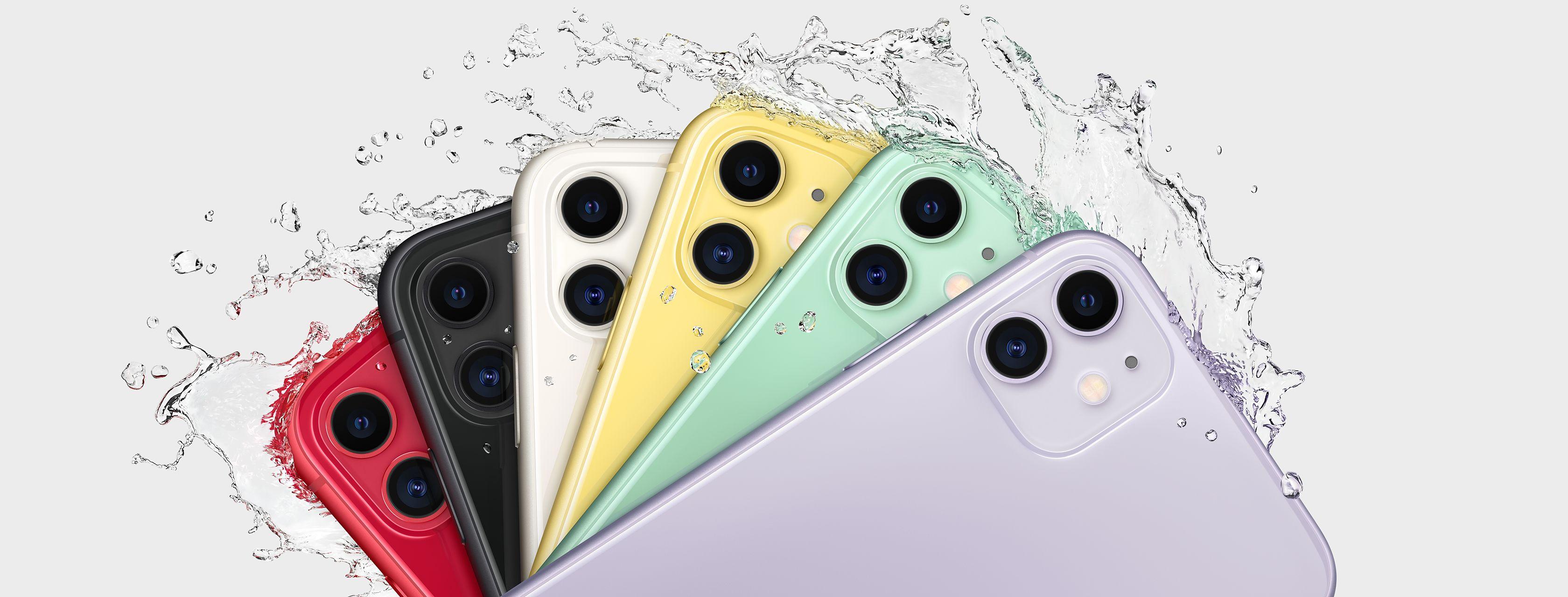 iPhone 11 colores y resistentes al agua y polvo