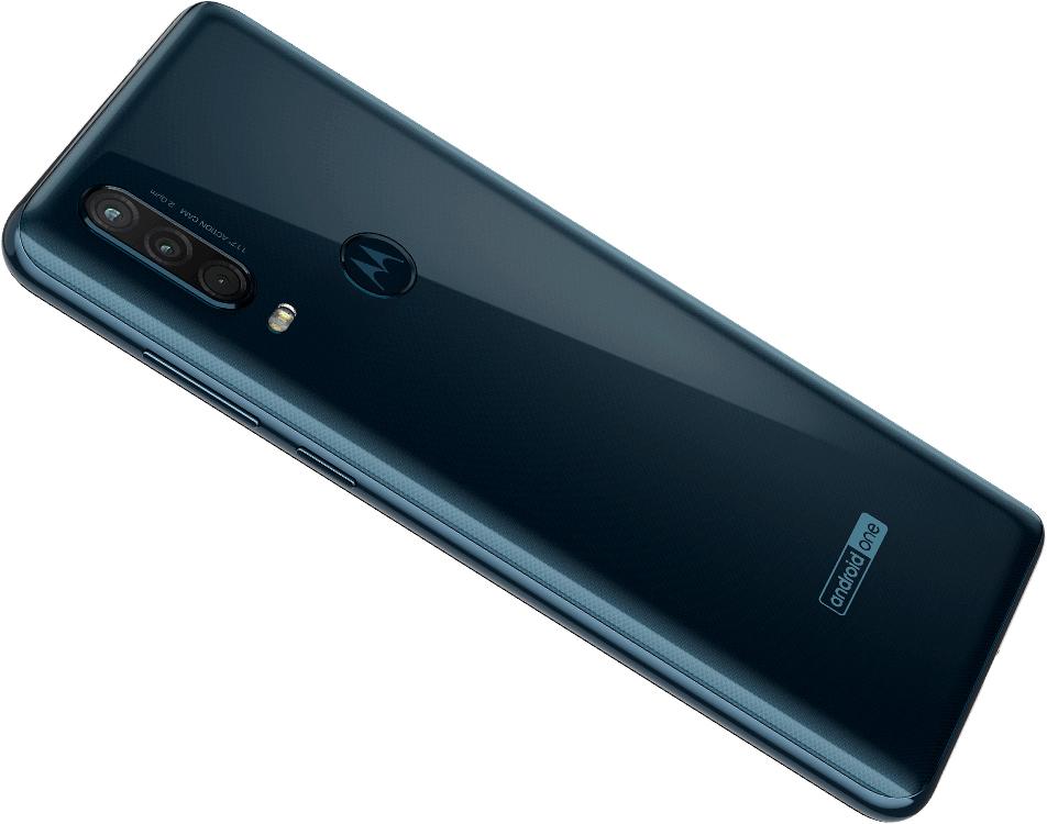 Motorola One Action en México color gris - posterior