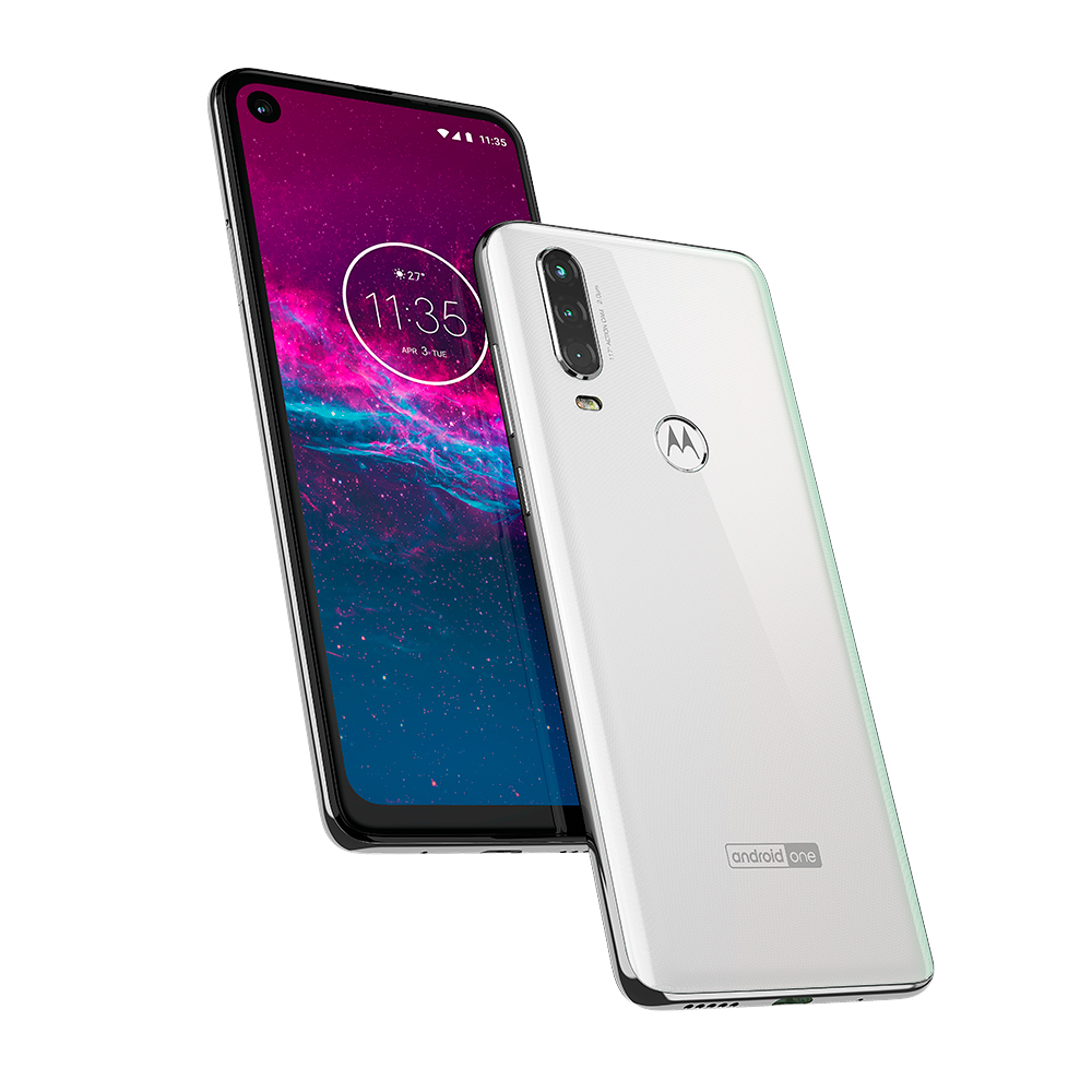 Motorola One Action en México color blanco